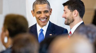 Obama and bearded Ryan