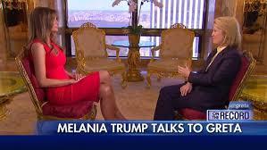 Melania Trump talks to Greta
