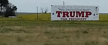 Trump highway sign